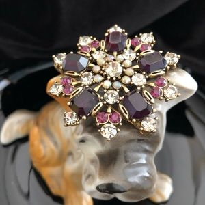 Spectacular Rhinestone Brooch, mixed colors.